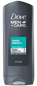 Dove Men+Care Aqua Impact Body and Face Wash, 18 oz.