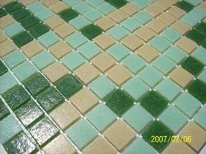 glasstein mosaik fliesen kacheln gr n beige mix glasmosaik bad pool k che 1matte. Black Bedroom Furniture Sets. Home Design Ideas