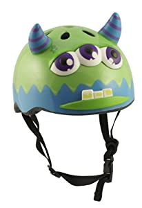 Monster Childrens Safety Helmet Cycling Skating Scooter Bike (Suitable Kids ages 3 +)