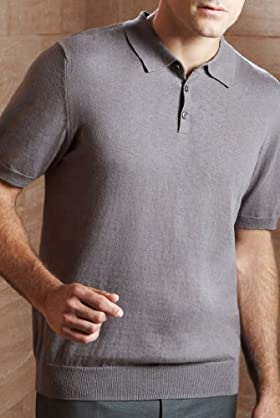Collezione Cotton Rich Plain Polo Shirt with Cashmere [T30 -3945c-S-LCTB]