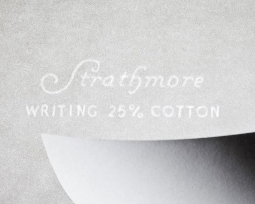 strathmore writing 25  cotton stationery paper laid finish