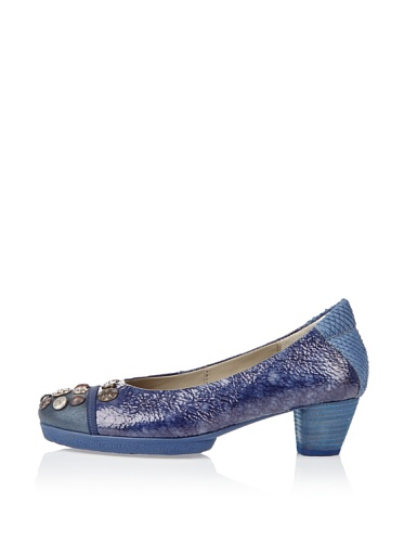 Think Nola 80176 Damen Pumps (42, Blau (water/kombi 86))