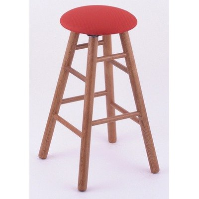 "York 36"" Extra Tall Bar Stool with Cushion Seat Wood Finish: Medium Oak, Seat Type: Upholstery - Tribute-Mocha, Leg Type: Smooth"
