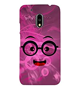 Chacha Smiley Cute Fashion 3D Hard Polycarbonate Designer Back Case Cover for Motorola Moto G4 Play
