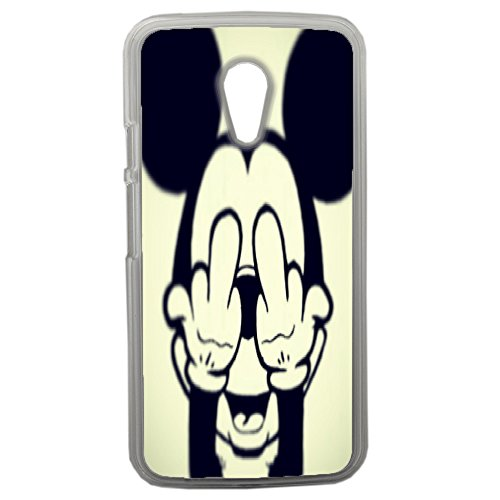 Lapinette-Schutzhülle originelle Humor Disney Mickey Fuck Motorola Moto G2