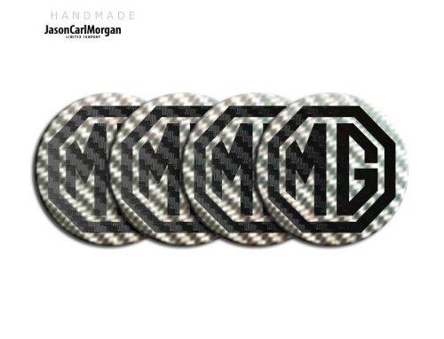 MG ZT LE500 Noir Argent & Jante en alliage Bouchon Badges (CLR57mm)