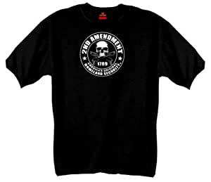 Hot Leathers 2nd Amendment Short Sleeve Tee (Black, Medium)