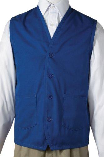 Ed Garments Button Down Front Pockets Apron Vest, Royal, Xx-Large