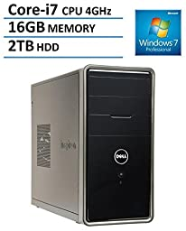 2016 Newest Dell Inspiron i3847 Flagship High Performance Desktop PC, Intel Quad-Core i7-4790 Processor, 16GB RAM, 2TB HDD, DVD+/-RW, WiFi, Bluetooth, VGA, HDMI, Windows 7 &10 Professional