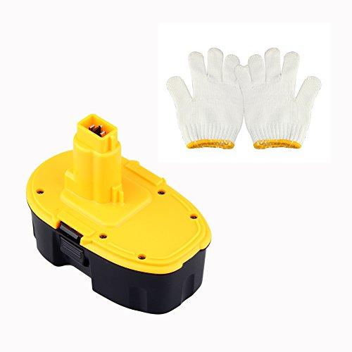 Coco-Vision 18V 3000Mah Battery For Dewalt Dc9096 Dc9099 388683-12 651034-01 De9039 De9095 De9096 De9098 Dw9096 Dw9095 Dw9098 + Gloves