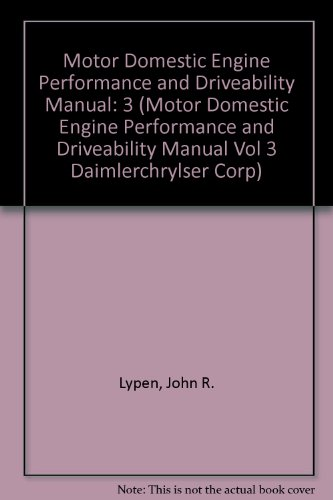 Motor Domestic Engine Performance and Driveability Manual, hc, 2000 PDF