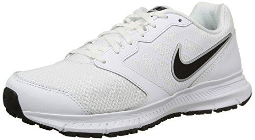 Nike Downshifter 6 Scarpe da ginnastica, Uomo, White/Black-Metallic Silver, 42 1/2