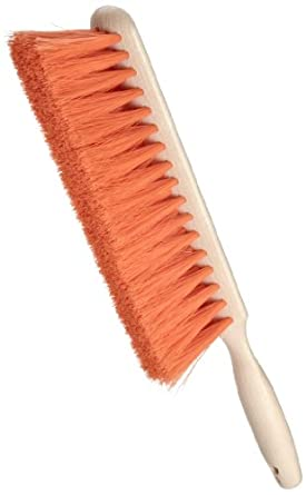 """Weiler 42213 Polystyrene Counter Duster with Wood Handle, 2-1/2"""" Head Width, 9"""" Overall Length, Natural"""