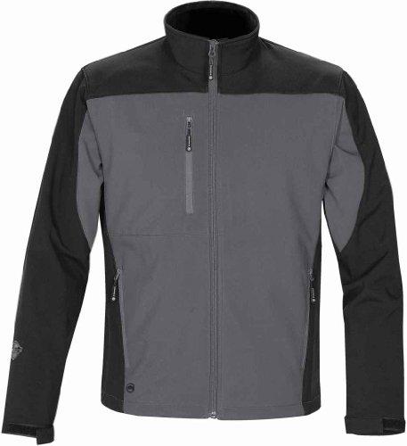 Stormtech Bhs-2 Men'S Edge Softshell Jacket Graphite/Black Medium
