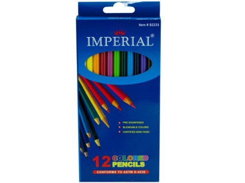 Colored Pencils, Set Of 12 - 1