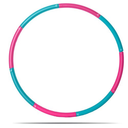 3 Pound Weighted Hula Hoop For Exercise Weight Loss. Perfect for Dancing, Hot Fitness Workouts and Simply the Funnest Way to Lose Weight. (Pink & Blue)