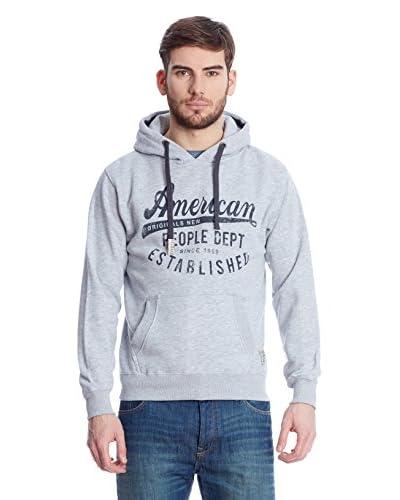 American People Felpa Cappuccio Loic [Grigio/Miele]