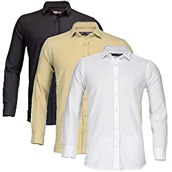 Feed Up Combo of 3 Mens Shirts 38