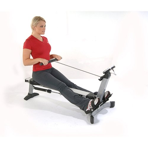 Stamina Stamina Avari Easy Glide Rowing Machine, Blue/Grey, Steel