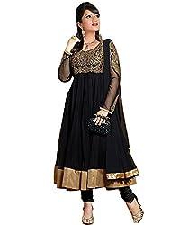 Krishna Emporia Women's Black Salwar Suit Dupatta Dress Material (Ayesha Takia Dress Material)