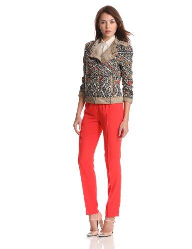 2968e22ae2a3 BCBGMAXAZRIA Women's Ziggy Woven Sportswear Jacket - Wadulifashions