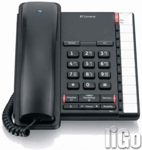 BT Converse 2200 Telephone 10 Number Memory Black Ref 040208 image