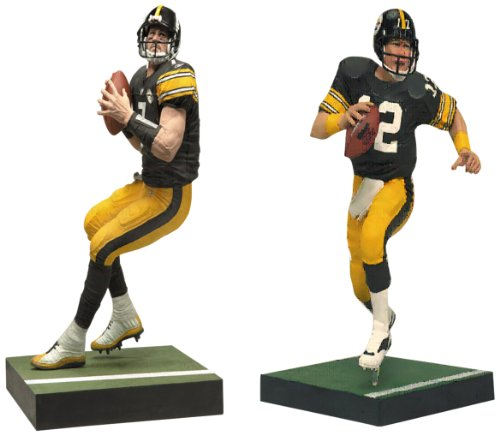 NFL Pittsburgh Steelers McFarlane 2012 Terry Bradshaw and Ben Roethlisberger Collector's Edition Action Figure 2-Pack at Steeler Mania
