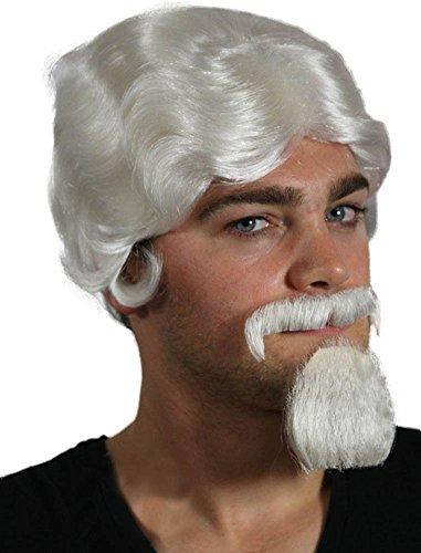 My Costume Wigs Men's Colonel Sanders Wig (White) One Size fits all (Colonel Sanders Costume Wig)