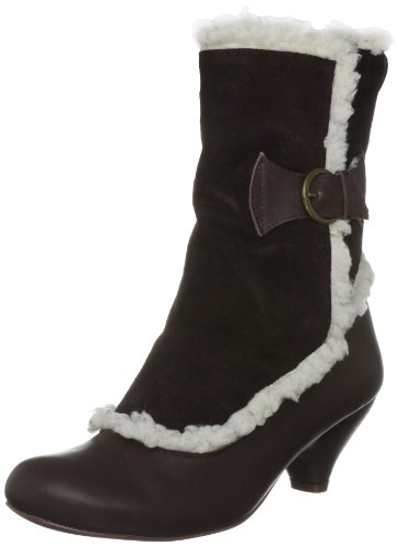 Bed Of Roses Women's Monicled Mavis Brown Fur Trimmed Boots 3897-4C 6.5 UK, 40 EU