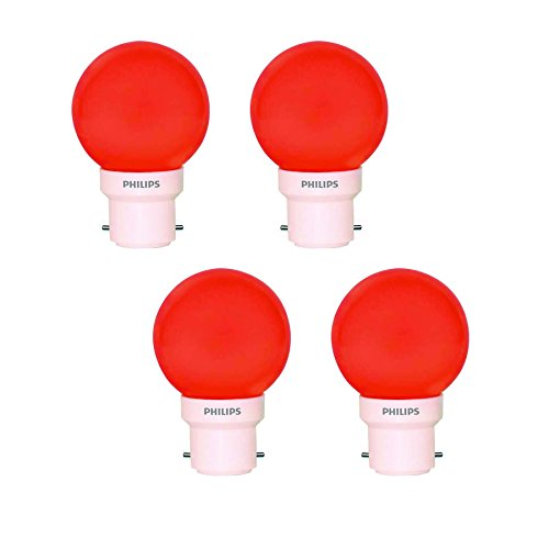 0.5W Decomini B22 LED Bulb (Red, Pack of 4)