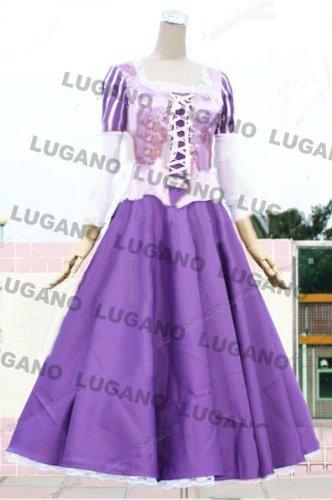 コスプレ衣装 ディズニーハロウィン ラプンツェル02 女性L 完全オーダメイドも対応可能
