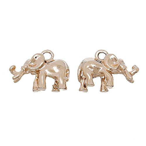 angel-malone-2-x-22mm-3d-elephants-champagne-rose-gold-pendant-charms-jewellery-making-findings-lead