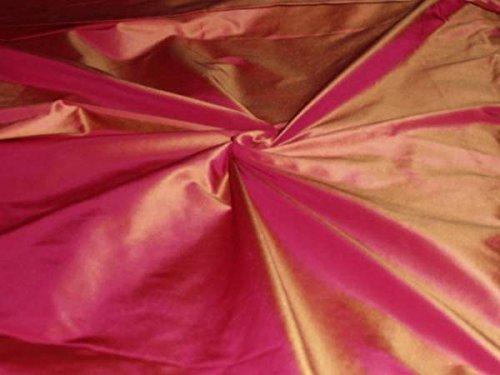 fandango-pink-50-mm-hohe-gewicht-x-senf-seide-taft-stoff-1372-cm-breit-hobby-home-decor-nahen-mode-p