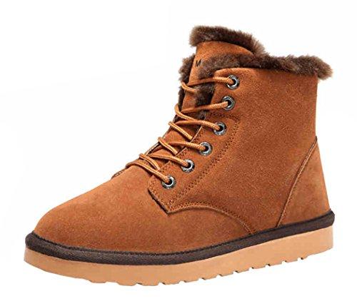 Rock Me Men'S Flak I Winter Plush High Top Snow Boot(8 D(M) Us, Chestnut)