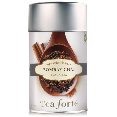 Tea Forte Loose Leaf Tea Canister- Bombay Chai Black Tea 4.6oz