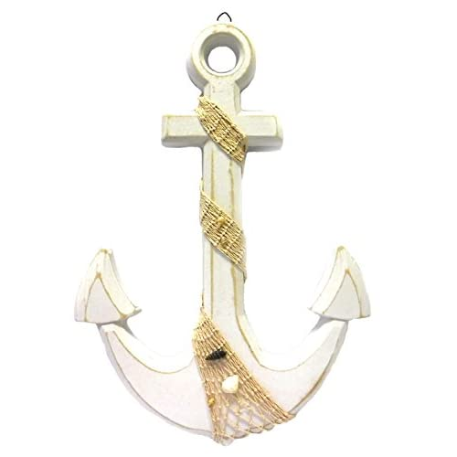 Large Anchor Wall Plaque Nautical Beach Tropical Decor - 18