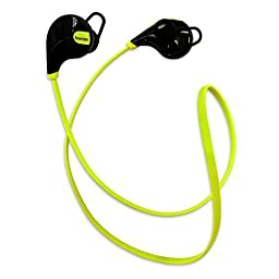 Amerzam Bluetooth Headphone In-Ear Stereo Bluetooth V4.1 Wireless Sweatproof Running Headset with Microphone(green)