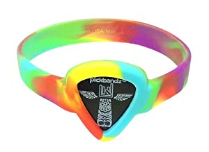 Pickbandz Bracelet Peace Out Tie Dye Small - Guitar Pick Holder Bracelet