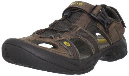 Teva Men's Omnium Leather Sandal Browned 6153 12 UK