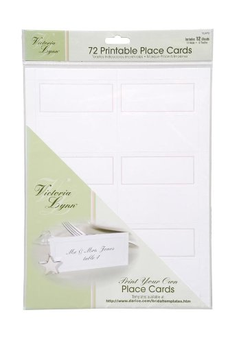 Darice VL3473, 72-Count Place Cards, 12 Sheets, White (Seating Place Cards compare prices)
