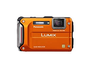 Panasonic Lumix Ts4 12.1 Tough Waterproof Digital Camera With 4.6x Optical Zoom Orange