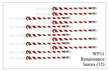 28mm Historicals - Weapons: Renaissance Polish Lances (12)