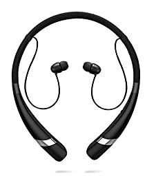 Wireless Earbuds, HV-960 Bluetooth Neckband Headset Sweatproof Noise Reduction Headphones with Microphone & Bass, Sport Running Magnet Earphones Hands-free for Apple iPhone, iPad, Samsung(Black)