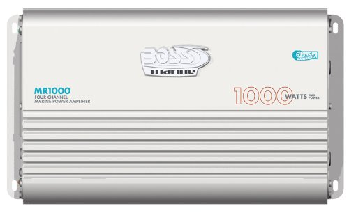 Boss Audio Mr1000 1000-Watts Full Range Class A/B 4 Channel 2-8 Ohm Stable Amplifier With Remote Subwoofer Level Control