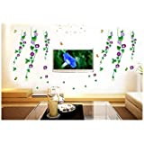 Decals Arts Morning Glory Flower Wall Sticker For Home Office Décor