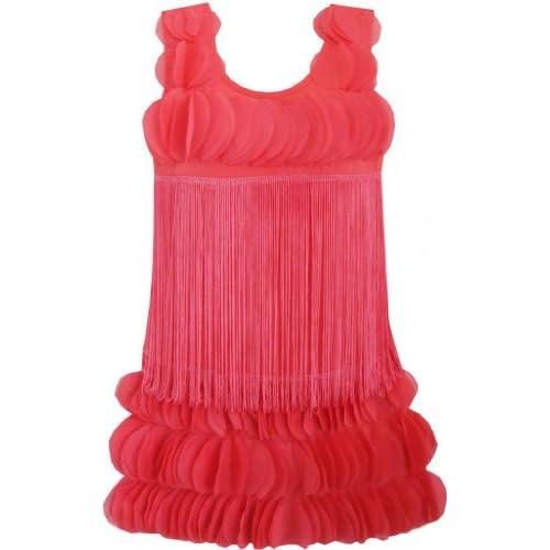 DF93 こどもドレス 子どもドレス 可愛くドレス 結婚式 発表会 赤 パーティー ダンス 130cm