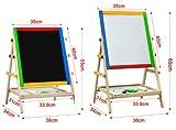 Viel Spaß!!★Smallwise Trading 2in1 Höhenverstellbar Maltafel Standtafel Kindertafel mit Kreide Schwämme Stift Holz NEU ★