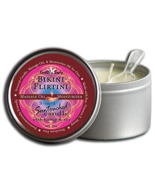 Earthly Body 3 In 1 Candle - 6 oz Bikini Flirtini Summer Collection