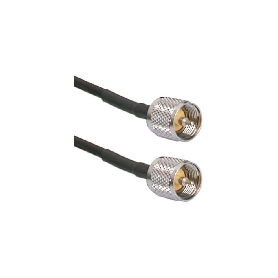 213 Coax Jumper PL-259 CB Amateur Radio Ultra Low Loss Cable UHF VHF RF 6 ft RG