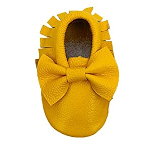 Sannysis® Bebé arco antideslizante zapatos de cuero; Primeros Pasos Zapatos